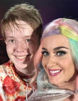 Trym (14) fikk kyss av Katy Perry