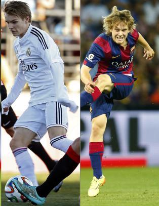 Martin (16) og Alen (18) er framtidsh�pene for Real Madrid og Barcelona