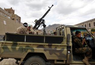 Flyangrep n�r presidentpalasset i Jemens hovedstad Sana