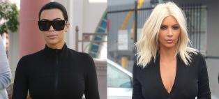 N� er Kim ferdig som blondine