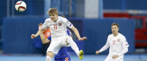 Kroatia dunket inn fem mot Norge. Det vises p� spillerb�rsen