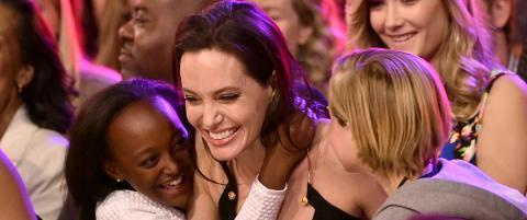 Angelina Jolie viste seg for f�rste gang etter operasjonen