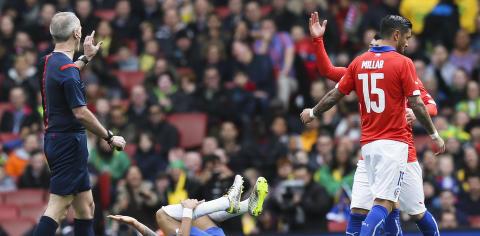 Neymar i hovedrollen: Ampert m�te med Chile