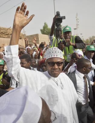 30 �r etter at han ble styrtet i et kupp, kan eksdiktator Buhari (72) igjen bli president i Nigeria