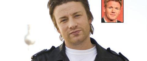 Jamie Oliver om Gordon Ramsay: - Han er dypt sjalu p� meg