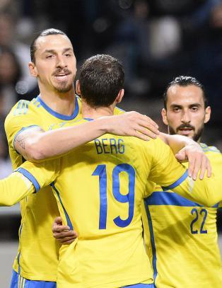 Zlatan spilte bare �n omgang - kom likevel p� scoringslista