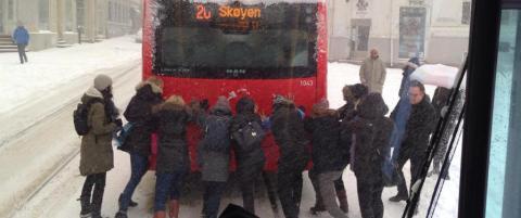 Bare Oslo sentrum som ikke taklet p�sketrafikken