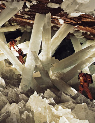 Etter ti minutter i denne krystallhulen kan du kollapse og d�