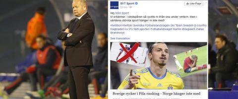 Slik godter svenskene seg over Norges fotballprestasjoner