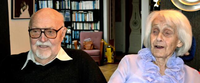 Svensk rekordpar: Lennart (100) og Ingeborg (102) avsl�rer hemmeligheten