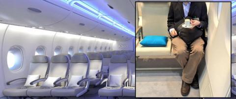 Dette klaustrofobiske setet kan bli framtidens flyhverdag: - Jeg vil ALDRI fly med det selskapet