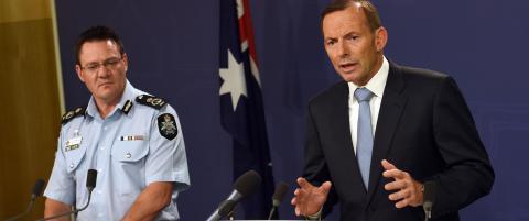 Tre l�slatt etter antiterroraksjon i Australia