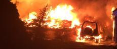 To hus brant ned til grunnen i Romerike natt