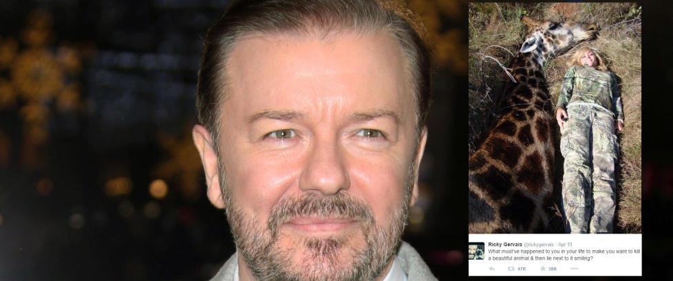 Ricky Gervais raser mot �trof�jegere� som skyter dyr for moro skyld