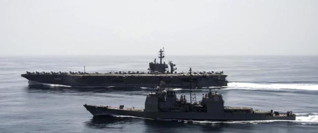 N� forlater det amerikanske hangarskipet Aden-bukta