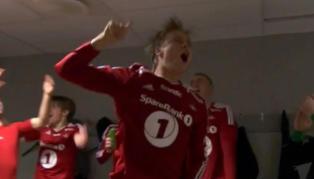 Slik feiret Rosenborg seieren i garderoben