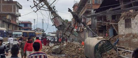 Hele Katmandu flyttet seg tre meter