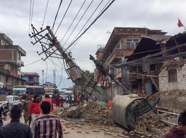 Hele Katmandu flyttet seg tre meter under d�dsskjelvet