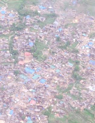 Fjellandsby n�r utslettet av jordskjelvet