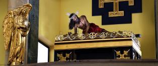 G�r 1500 trappetrinn opp til Monserrate fordi de tror en 400 �r gammel figur av Jesus helbreder