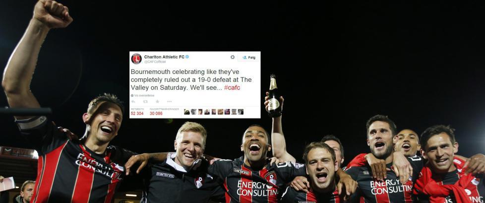 Charlton-stikket til Bournemouth g�r som en farsott i sosiale medier