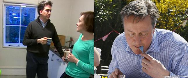 Latterliggj�res for bildene som viser de politiske forskjellene, men �n av dem skjuler en hemmelighet