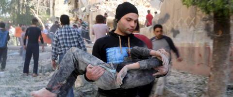 - Umenneskelige scener og lidelser i Aleppo