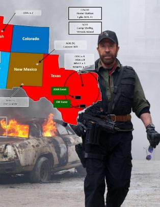 Dette kartet f�r Obama-haterne til � tro at USAs spesialstyrker skal invadere Texas