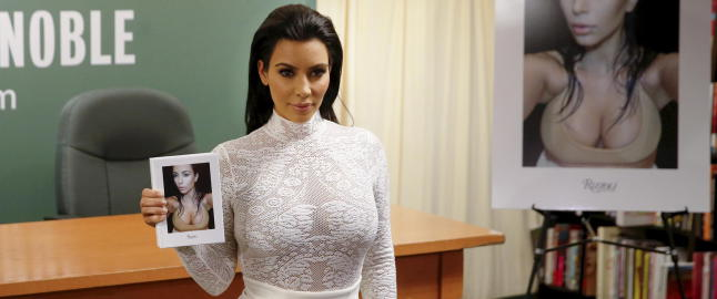 Kim slaktes for selfie-bok