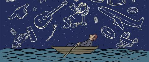 Mangfoldig barnebok om Observatoriet, krydret med tulletegninger og romantisk svada.