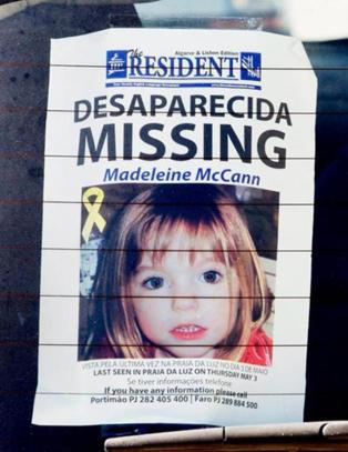 Madeleine (3) forsvant sporl�st for �tte �r siden. Politisjefen er den eneste som er d�mt