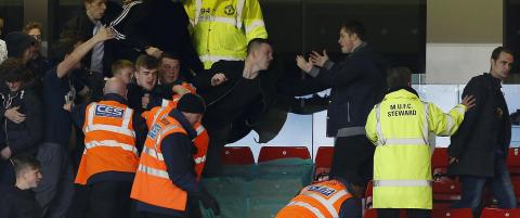 Tre arrestert etter tribunebr�k under U21-kamp mellom United og City