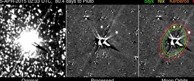 NASA presenterer Plutos f�rste �familiebilde�