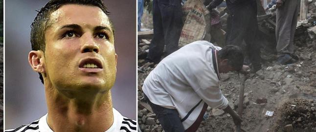 Alle trodde Ronaldo hadde donert kjempesum til jordskjelvofrene. S� kom kontrabeskjeden