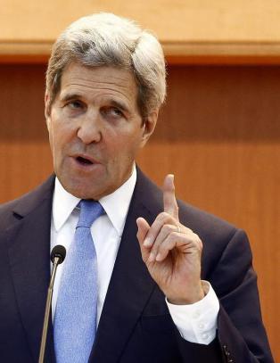 Kerry hardt ut mot Nord-Korea