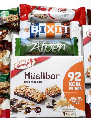 M�slibar-test: Nesten tre ganger s� mye sukker i taperen