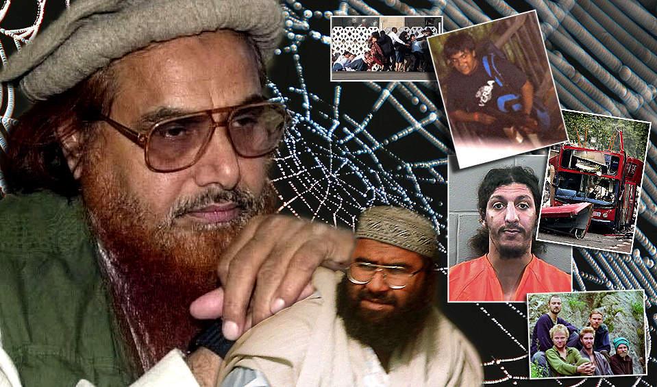 EDDERKOPPENE: Hafiz Mohammad Saeed (t.v) og Maulana Masood Azhar kan v�re de st�rste edderkoppene i det globale terrornettverket Osama bin Laden f�r �ren for. Kashmir-gruppene har vokst enormt de siste ti�rene, og eksporterer terrorister til hele verden - ogs� Norge.
