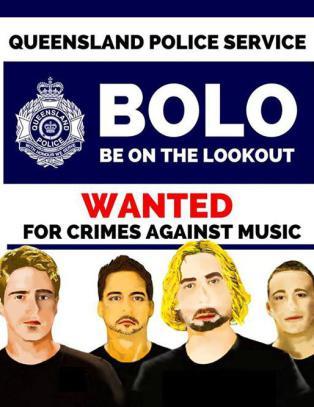 Politiet i Australia etterlyser rockeband for forbrytelser mot musikken