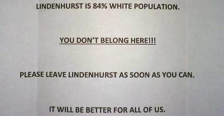 �84 prosent av de som bor her er hvite. Du h�rer ikke hjemme her�