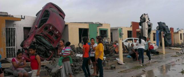 Minst ti drept i tornado i Mexico