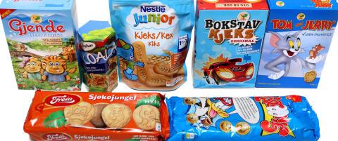 Barnekjeks fulle av sukker, palmeolje og kalorier