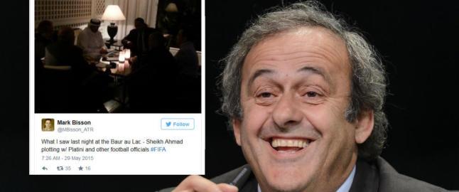 Her bruker UEFA-president Platini kvelden til � kapre stemmer