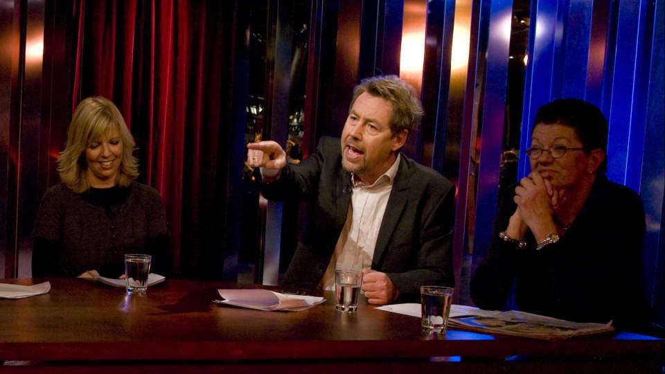 RABULIST: At Otto Jespersen (i midten) fortsatt provoserer er det liten tvil om. Om han er morsom hersker det mer delte meninger om.