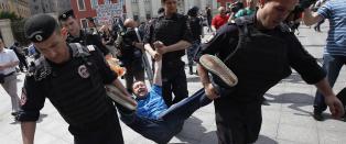 20 arrestert under ulovlig homodemonstrasjon i Moskva