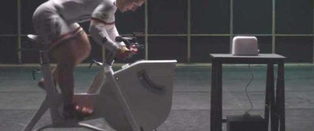 Kan en proffsyklist generere nok str�m til � riste en br�dskive?