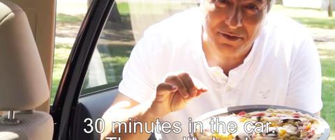 �Steker� pizzaen en halvtime i bilen: - La aldri barn bli sittende igjen alene