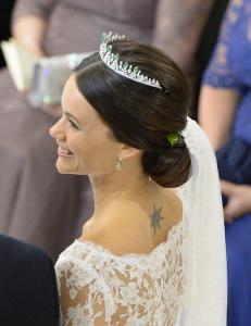 Her er brudekjolen