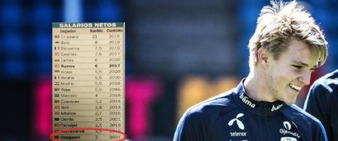 S� mye tjener �degaard i forhold til de andre Real Madrid-stjernene