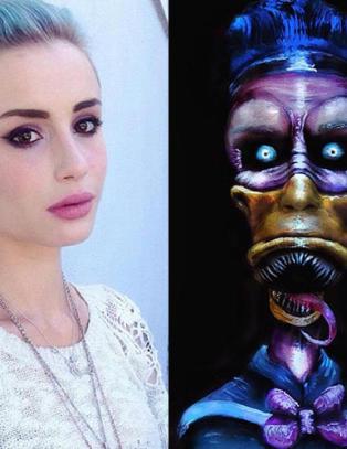 Emily vekker internasjonal oppsikt med dr�y ansiktsmaling