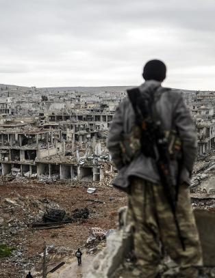 Slik s� Kobani ut etter forrige IS-angrep. I natt slo terrorgruppa til igjen